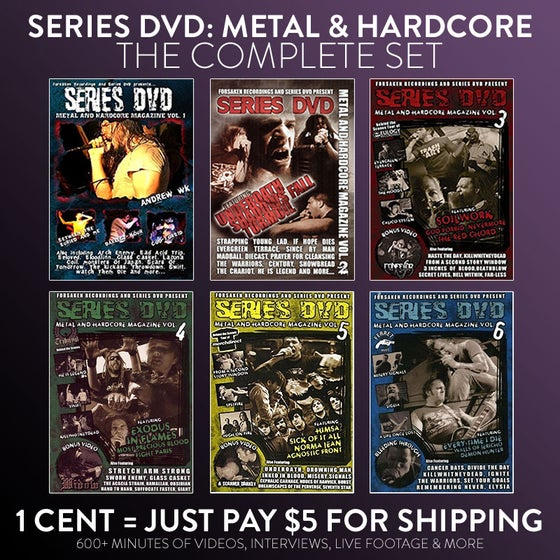 Image of Series DVD: Metal & Hardcore DVD (Complete set)
