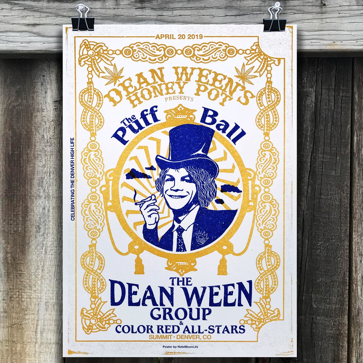 """Dean Ween Group 420 2019"" • 13""x19"" • Screen Printed poster"