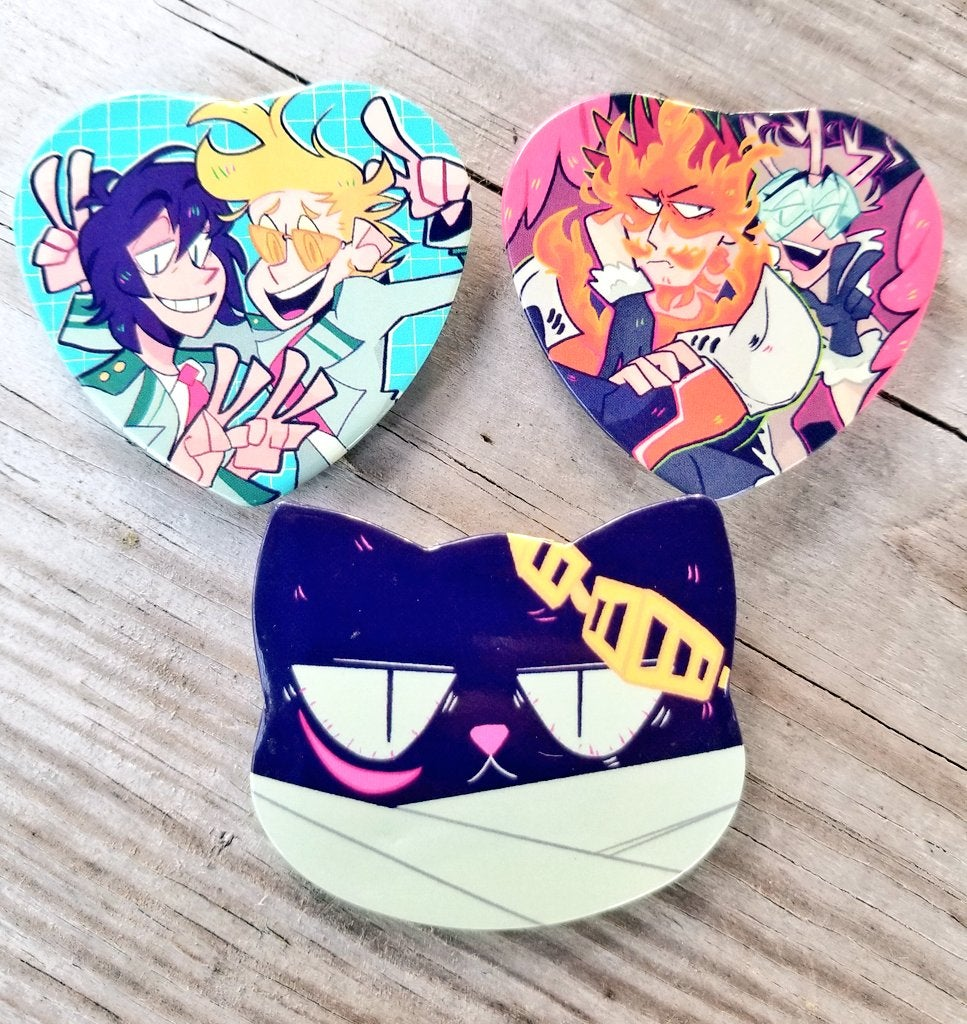 Image of MORE BNHA BUTTONS