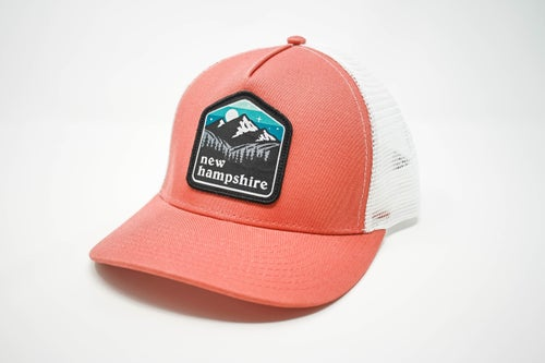 Image of NH Patch Cap- Nantucket Red/White Mesh