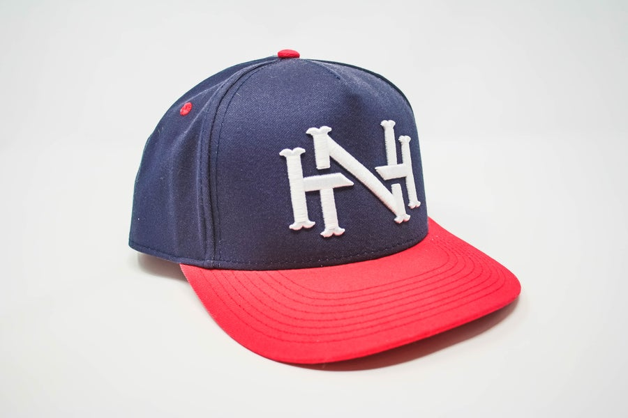 Image of NH Monogram Cap- Navy/Red