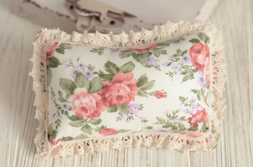 Image of Vintage Roses and flowers  pillow