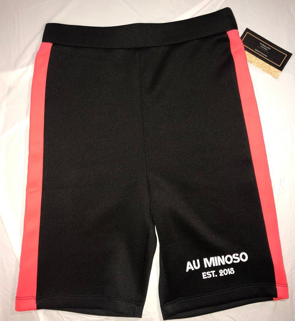 Image of Pink Stripe Minoso Biker Shorts