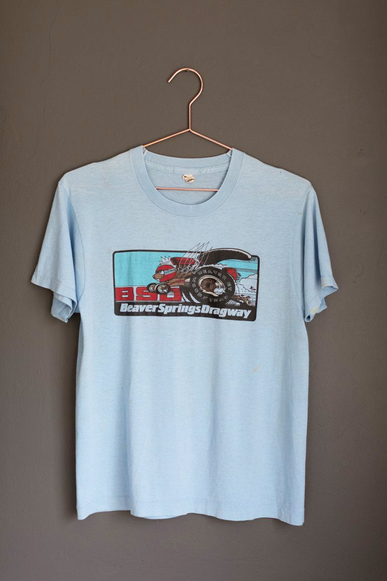 Image of Vintage Early 80's Beaver Springs Dragway Shirt