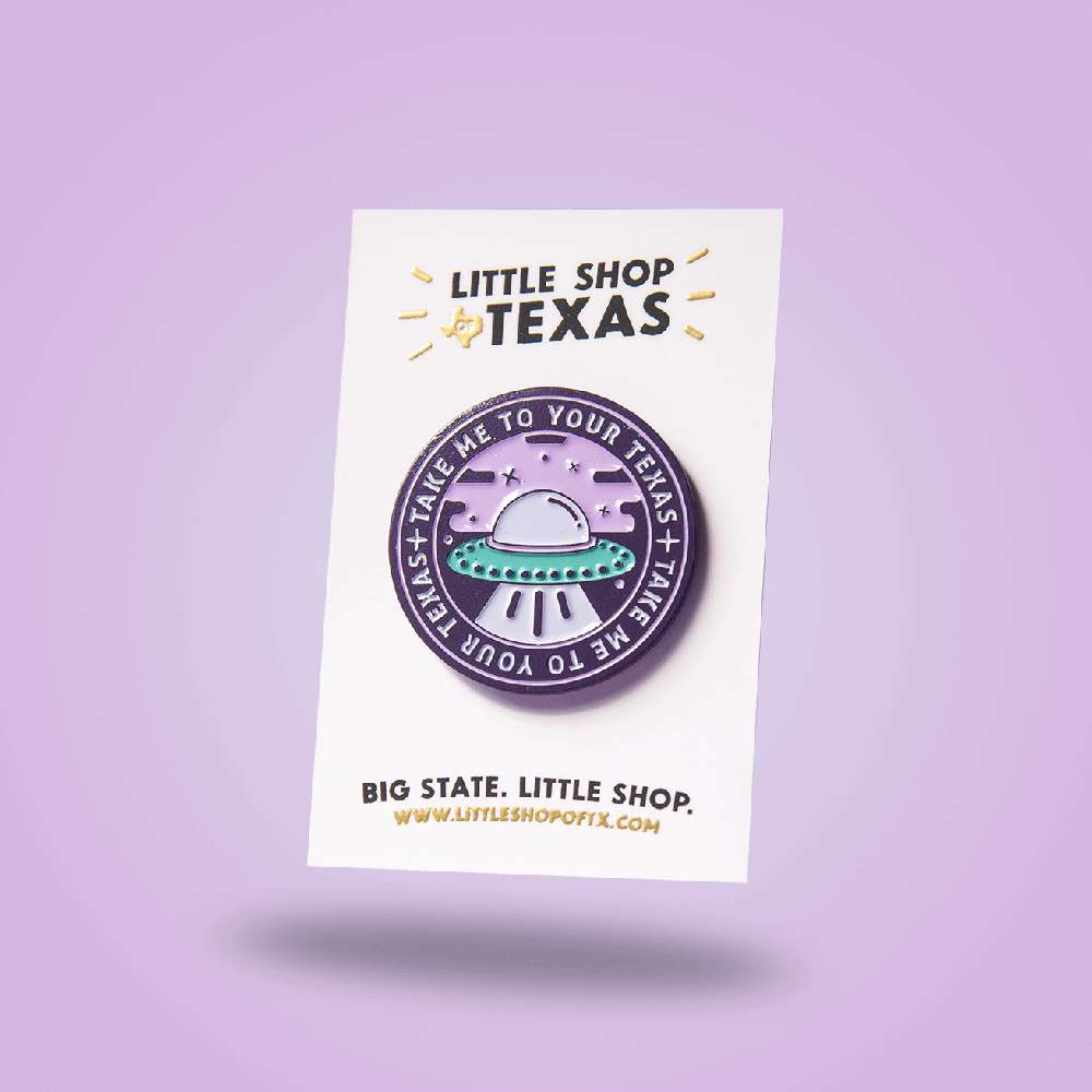 Image of Texas UFO enamel pin
