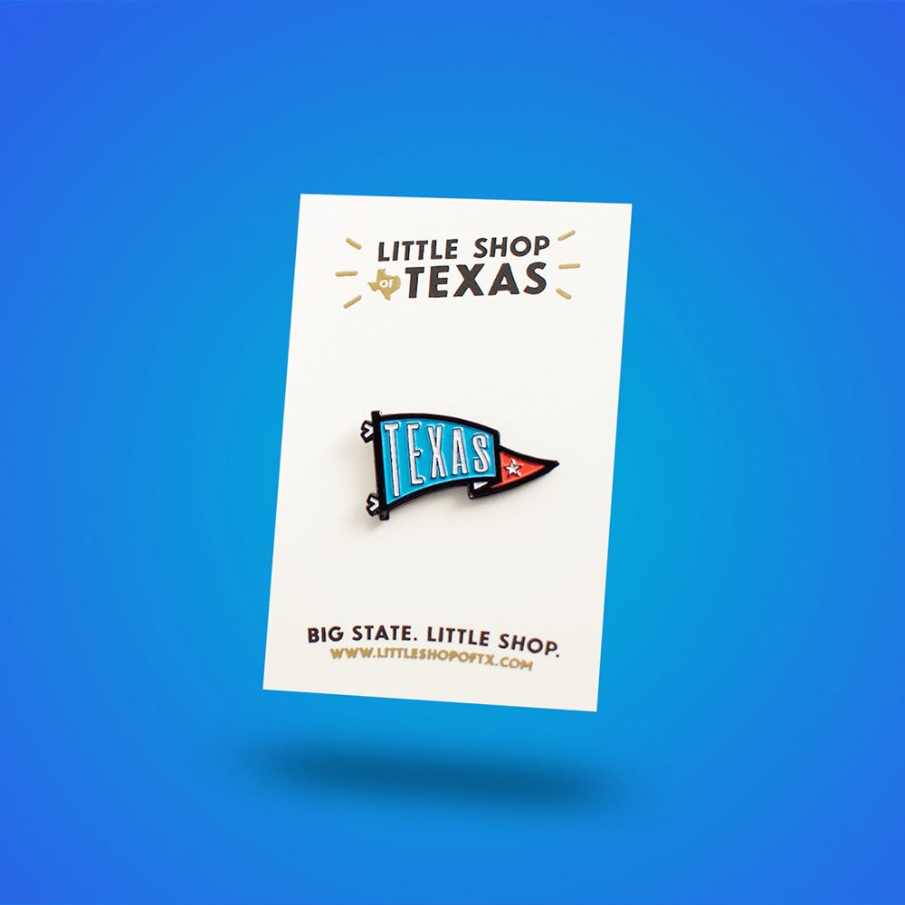 Image of Texas Pennant Enamel Pin
