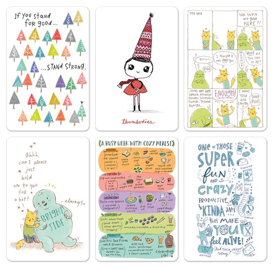 Image of Doodle Town Postcard Bundle