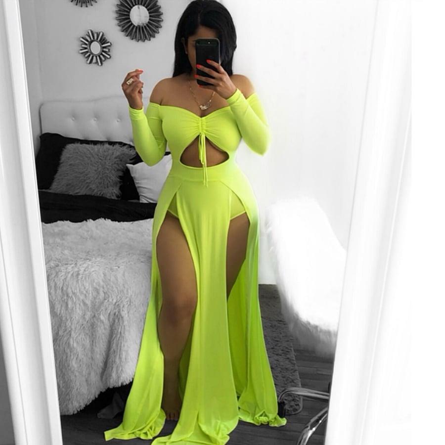 Image of Maxi slit dress