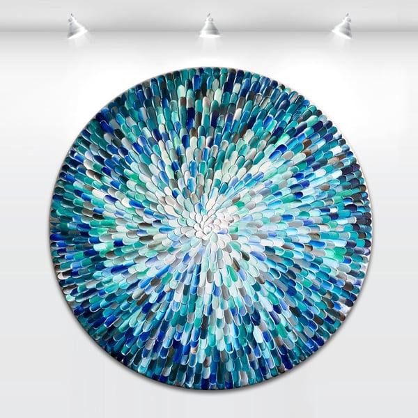 Image of Sapphire orbis - 90x90cm
