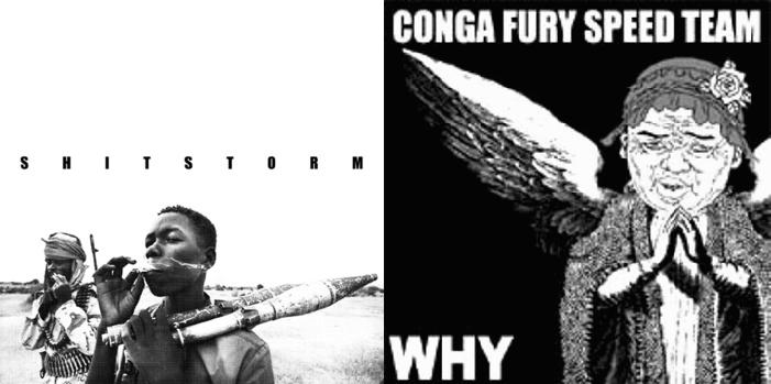 Image of Shitstorm / Conga Fury - Split 7""