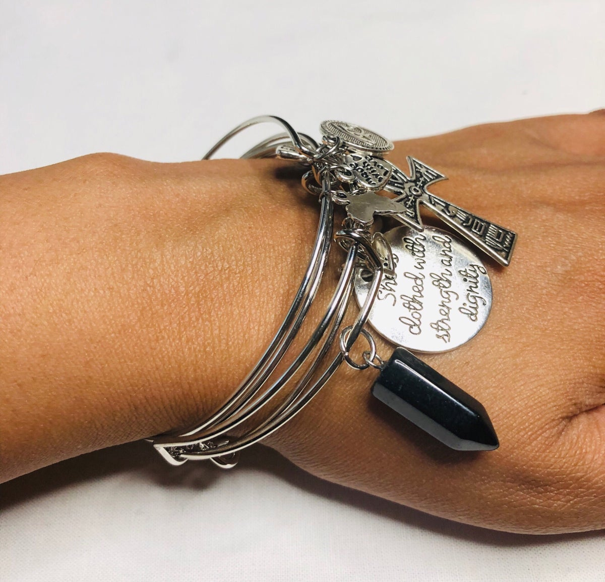 Image of She Is Clothed Bangle