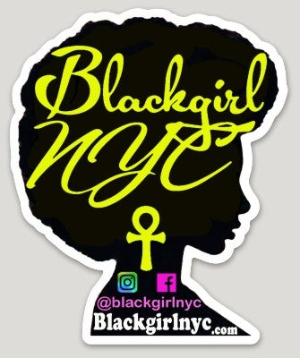 Image of Sticker - BlackgirlNYC Yellow on Black
