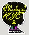 Sticker - BlackgirlNYC Yellow on Black