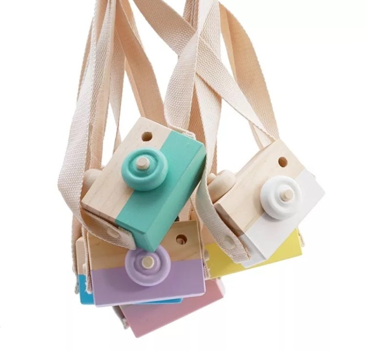 """Image of """"Say Cheese"""" Wooden Camera- Available in various colours"""