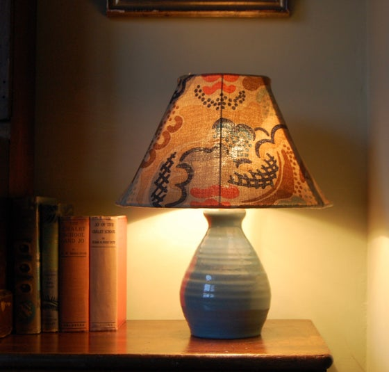 Image of Clouds Fabric Lampshade (Medium Coolie)  14 inch