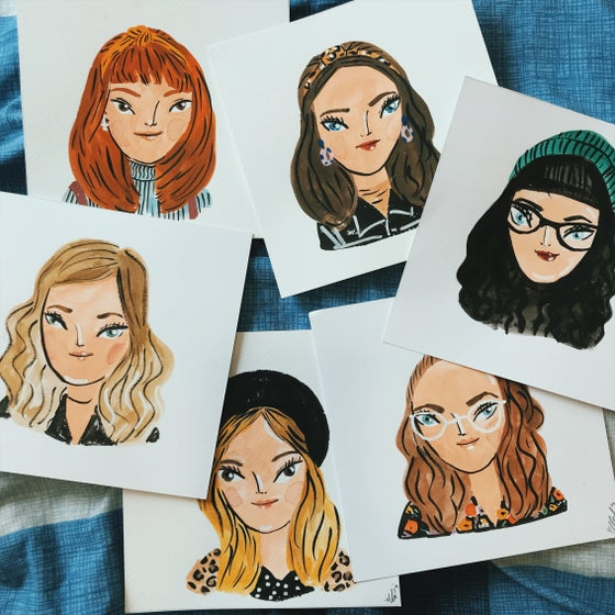 Image of single quick 5 minute watercolour portraits