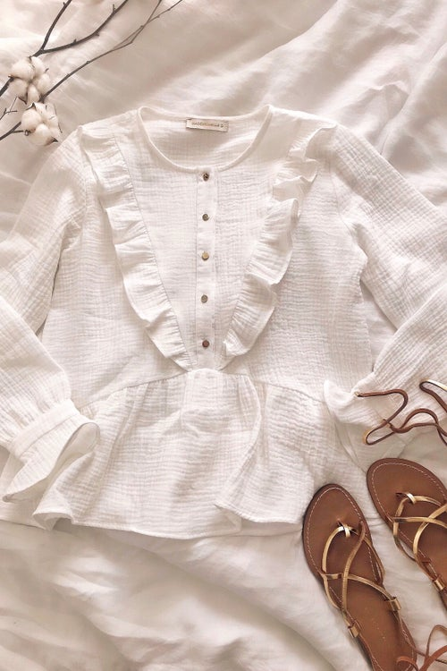 Image of BLOUSE VICTORIA - BLANC