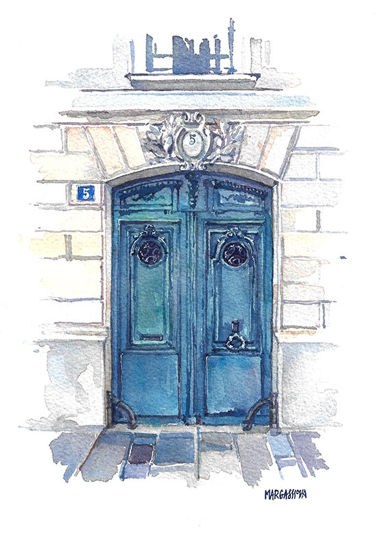 Image of #5 - Paris, France | Original Watercolor | Acuarela Original