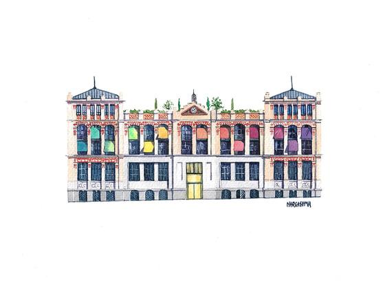 Image of La Casa Encendida - Madrid, Spain | Watercolor | Acuarela