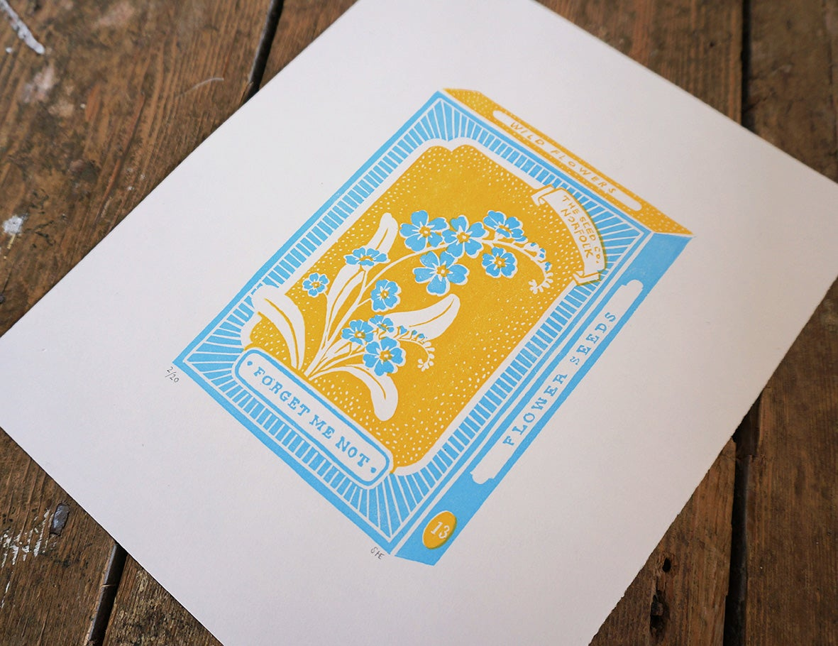 Image of April Print - Forget Me Not