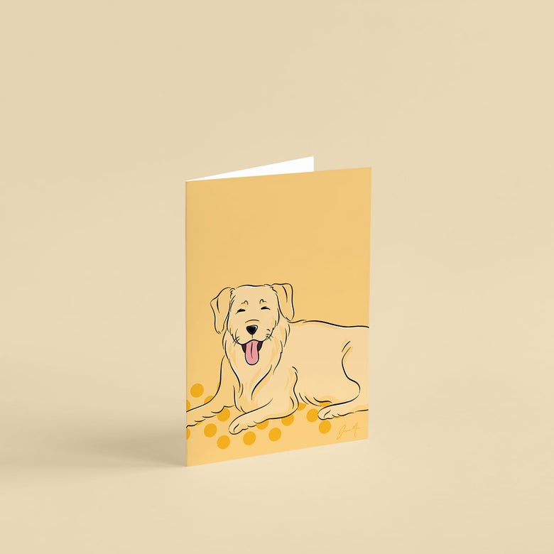 Image of Golden Retriever Greeting Card