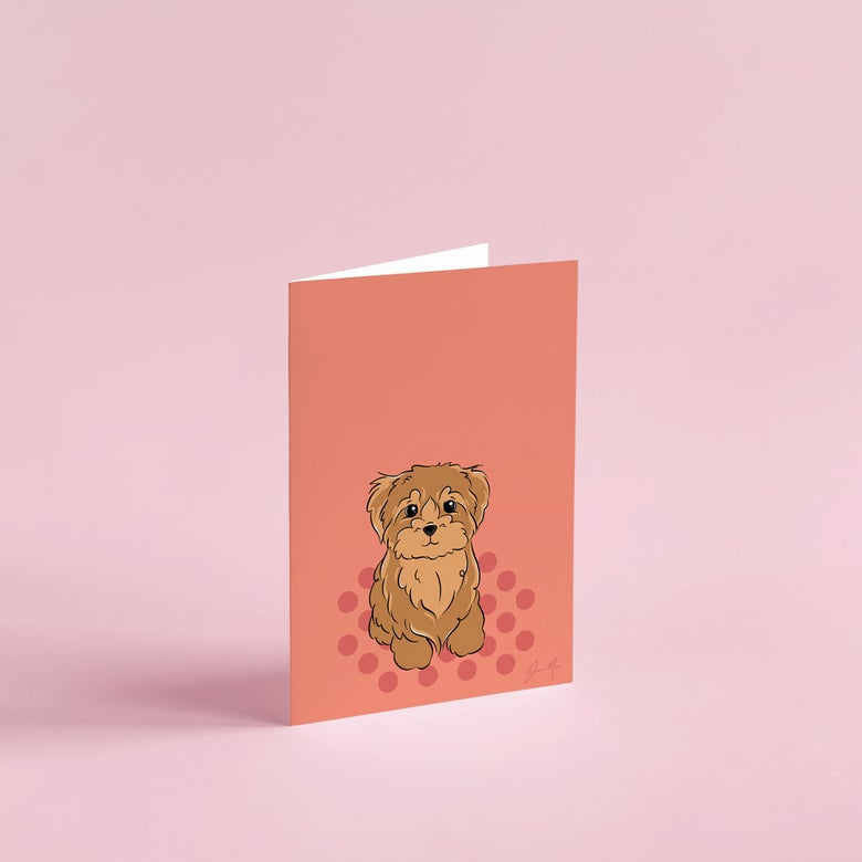 Image of Cavoodle Greeting Card