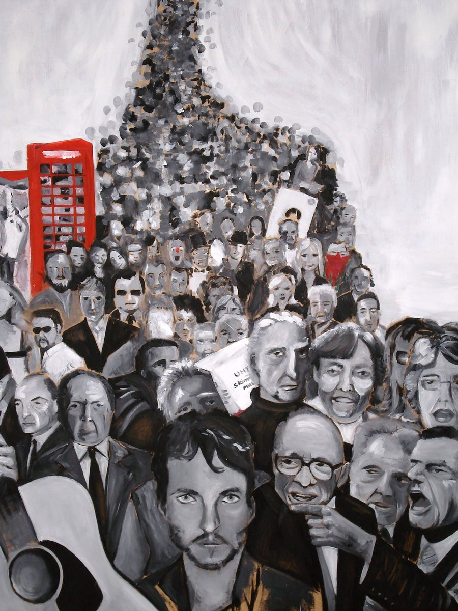 Image of A Very British Crowd | Oil On Canvas Original Painting