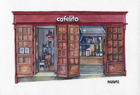 Image of Cafelito - Lavapiés, Madrid | Original Watercolor | Acuarela Original