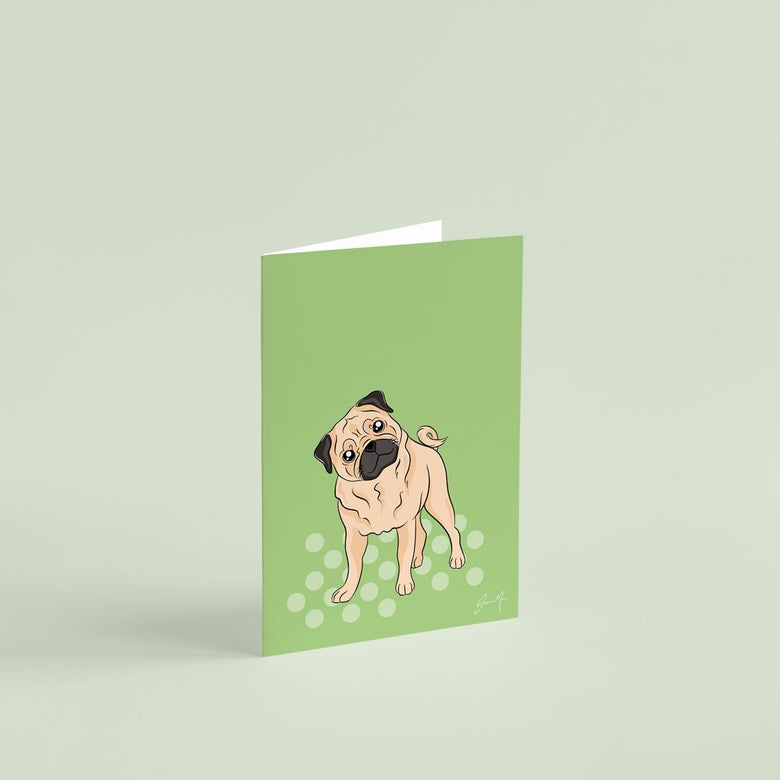 Image of Pug Greeting Card