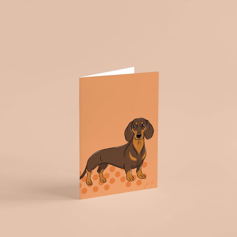 Image of Dachshund Greeting Card