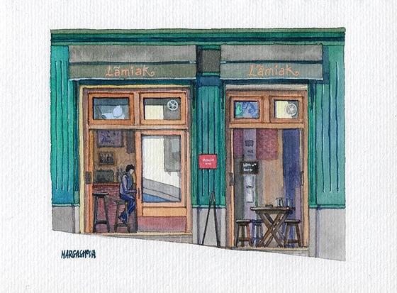 Image of Taberna Lamiak - Lavapiés, Madrid | Original Watercolor | Acuarela Original
