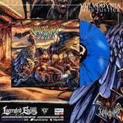 Image of VULVODYNIA - Mob Justice - Blue splatter Vinyl