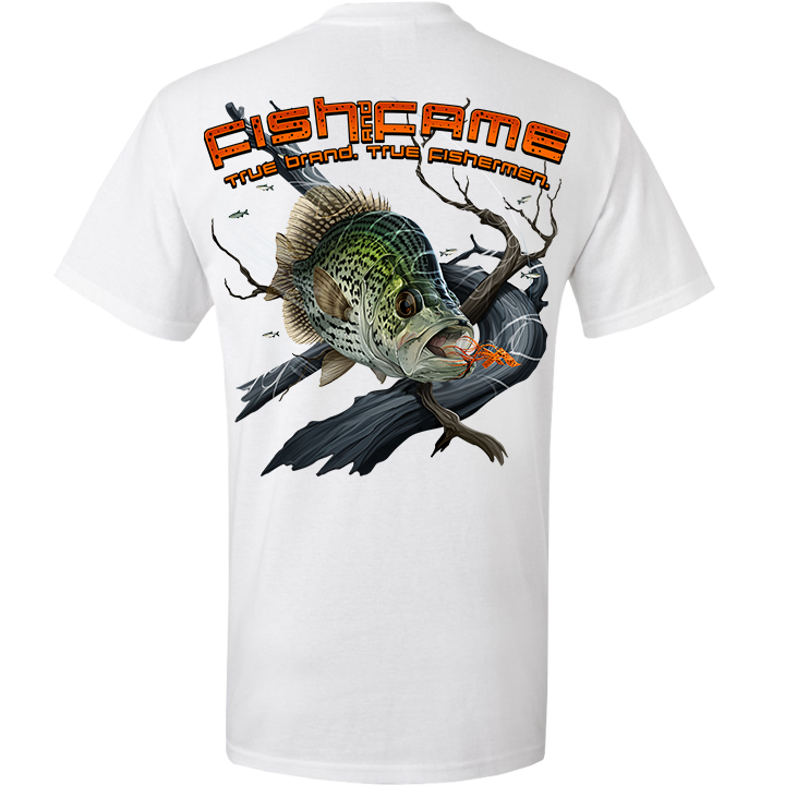 Image of Crappie Pocket Tee (white)