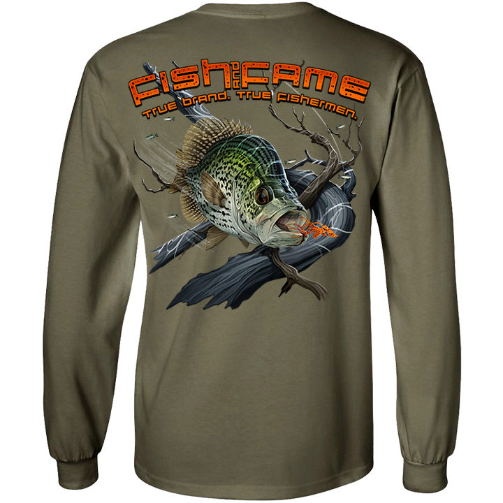 Image of Crappie Long Sleeve (moss)