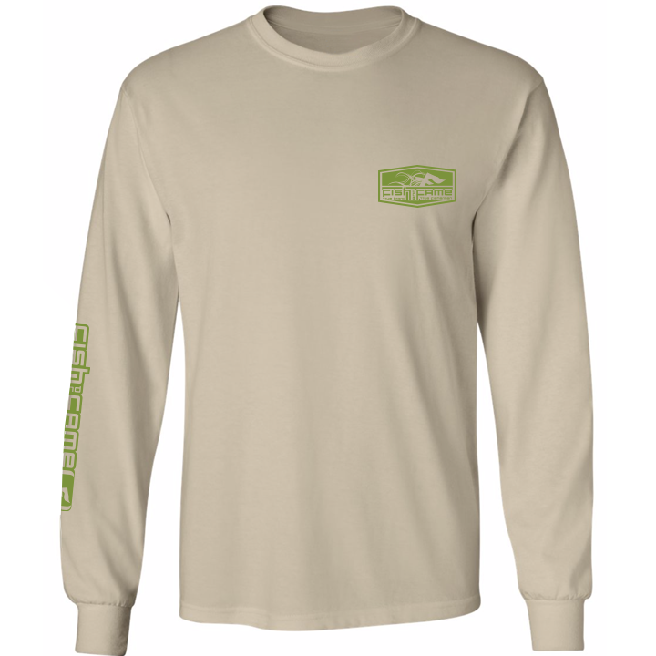 Image of Crappie Long Sleeve (sandstone)