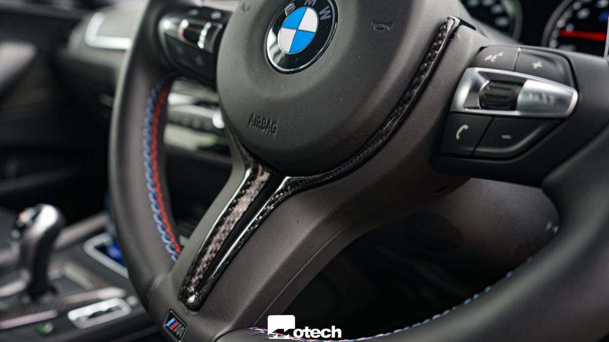Image of BMW M Models Carbon Steering Wheel Insert