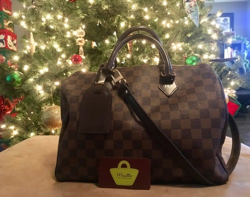 "Image of Dark Brown Leather Strap for Louis Vuitton Speedy/Trevi/etc, 3/4"" Wide, Handle to Crossbody Lengths"