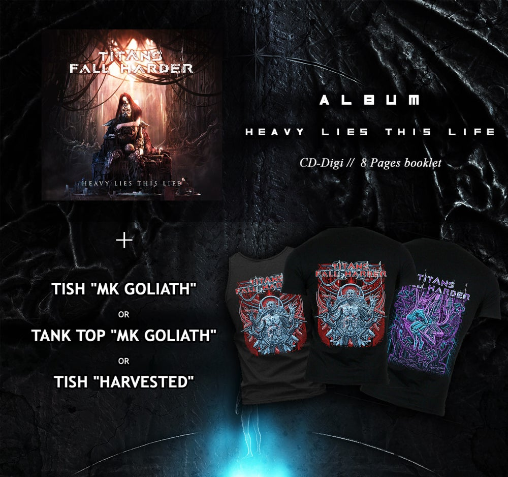 "Image of [BUNDLE] T-shirt/Tank top + ""Heavy Lies This Life"" CD"