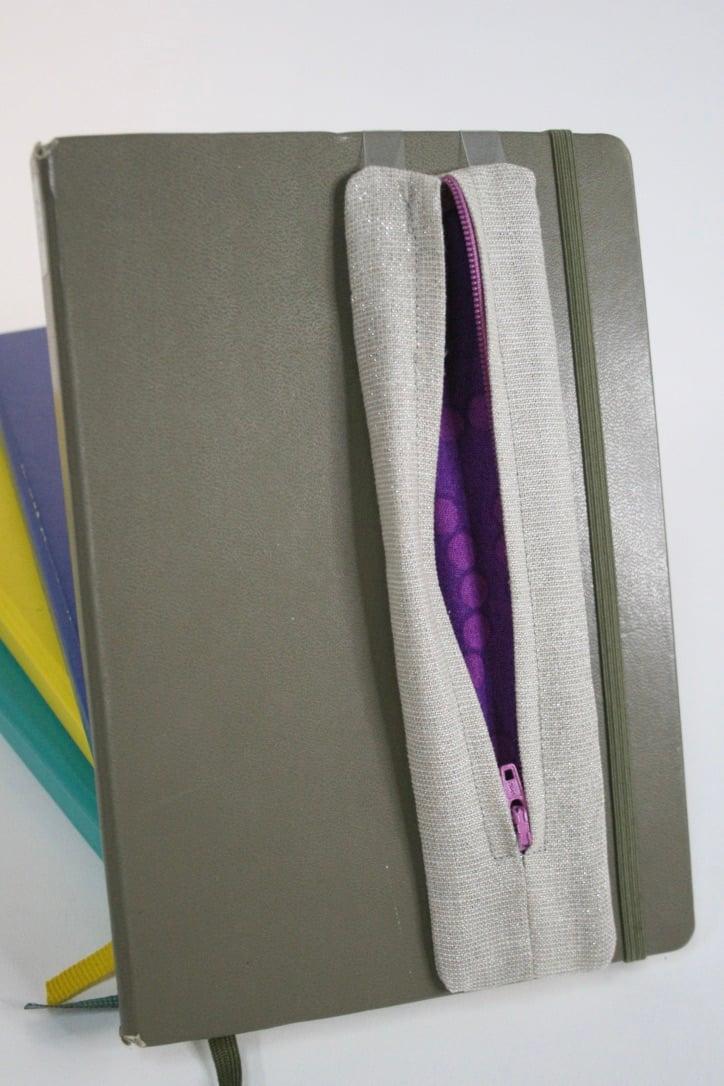 Image of Zippy Pen Pouches | Shimmer Linen/Cotton Blend