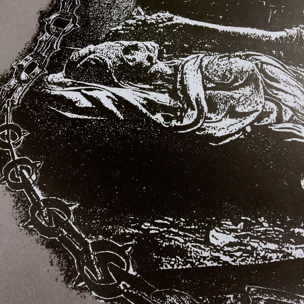 Image of 'brazen serpent' print