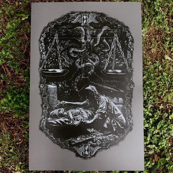 Image of 'brazen serpent' print