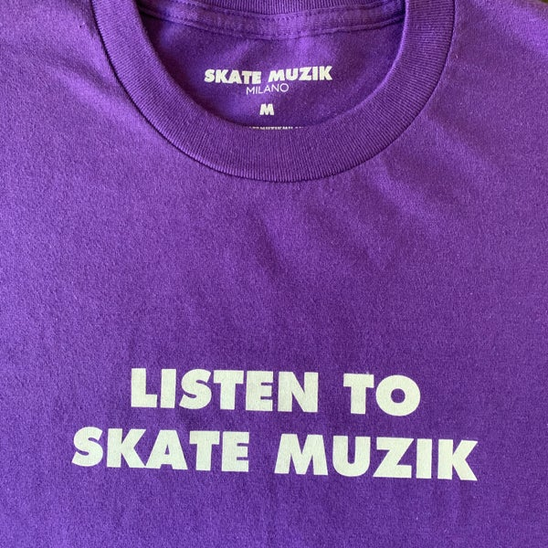 Image of Listen to Skate Muzik tee (Purple)