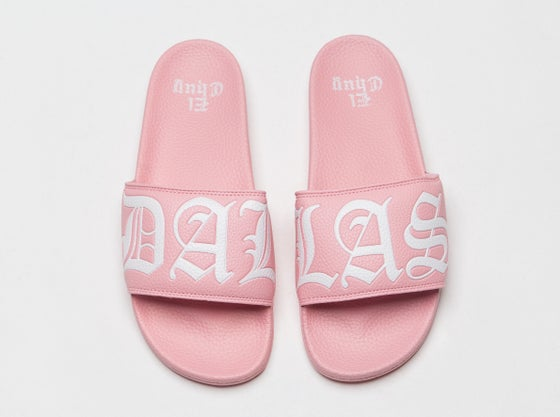 Image of DALLAS PINK SLIDES SANDALS