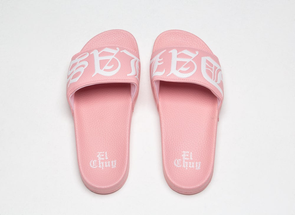 Image of DALLAS PINK SLIDES SANDALS (PREORDER)