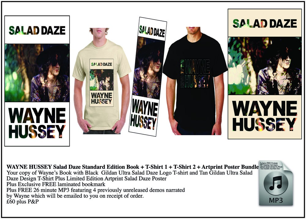 Image of WAYNE HUSSEY Standard Edition Book + 2 T-Shirts + Art Print Bundle