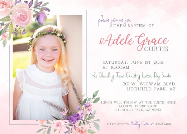 Image of Baptism & Birthday Invitations