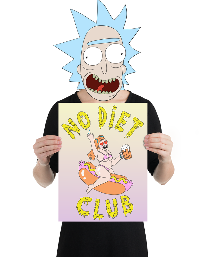 Image of Posters NO DIET CLUB