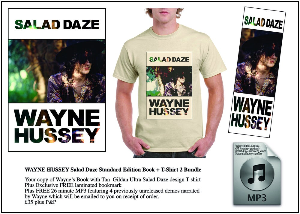 Image of WAYNE HUSSEY Standard Edition Book + Salad Daze Design T-Shirt Bundle