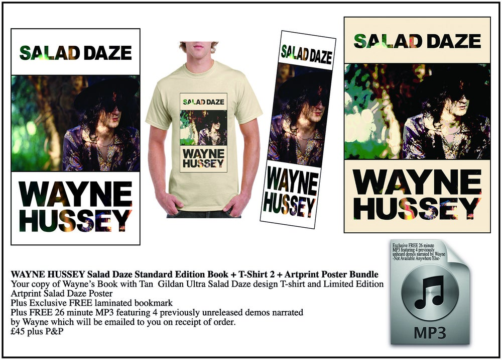 Image of WAYNE HUSSEY Standard Edition Book + Salad Daze Design T-Shirt + Art Print Bundle