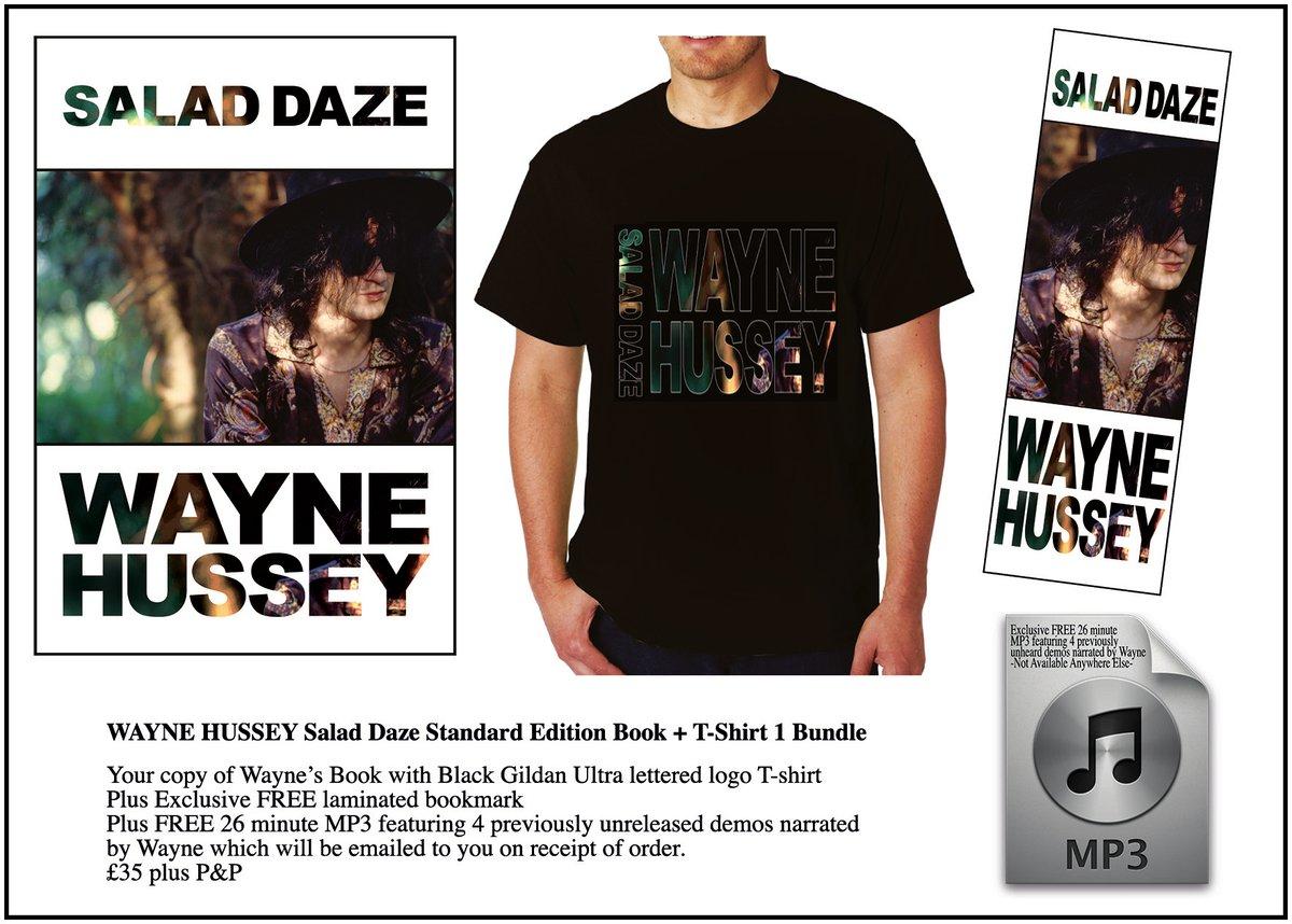 Image of WAYNE HUSSEY Standard Edition Book + Salad Daze Logo T-Shirt Bundle